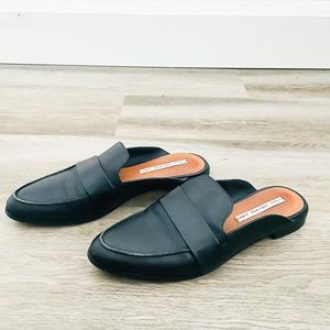 & Other Stories Black Leather Slip On Loafers 39